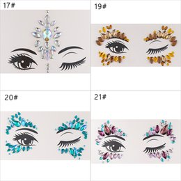 $enCountryForm.capitalKeyWord Australia - Adhesive Face Gems Rhinestone Temporary Tattoo Jewels Festival Party Body Glitter Stickers Flash Temporary Tattoos Sticker