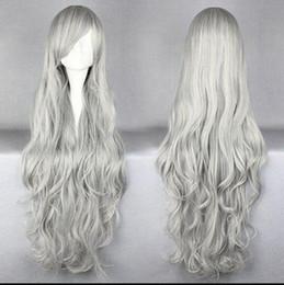 Kanekalon Lace Wigs NZ - WIG LL<<< 002022 Long SILVER WHITE curly Luo Jie Ireland   Ji Beier COSPLAY Wig 70CM Kanekalon Fiber no lace Hair full Wigs