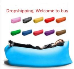 Wholesale Lounge Sleep Bag Lazy Inflatable Beanbag Sofa Chair Living Room Bean Bag Cushion Outdoor Self Inflated Beanbag Furniture toys kids toys