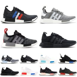 48a5bb64ffc94 2019 NMD R1 Primeknit Runner Running Shoes Men Women Glitch Pack Triple  Black White Oreo PK Designer Sport Sneakers 36-46