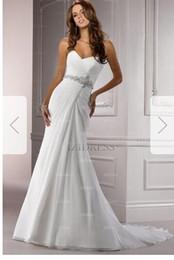Silk Satin Sheath Wedding Dresses Australia - Sheath Column Strapless Sweetheart Chapel Train Chiffon Wedding Dress hhh