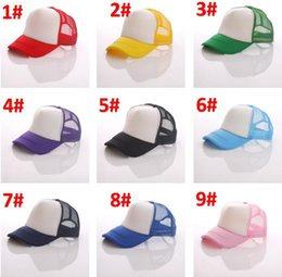 a51a5ed0 Mix color Kids Trucker Cap wholesale Blank Trucker Hats Snapback Hats kid  Size 56-60cm Solid Color Hiphop Beach Hats Unisex Sunblocks BY0720