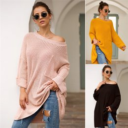 $enCountryForm.capitalKeyWord Australia - Autumn Winter Knitted Sweater Women Medium Style Sweatshirt Knitwear Casual Loose Sweaters Pullover Long Sleeve Sweater Top Clothes 2019