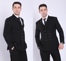 $enCountryForm.capitalKeyWord Australia - 2019 Fashion New Design Double Breasted Navy Men's Professional Business Suits Two Pieces Bridegroom Wedding Men Suits (Blazer+Pant)
