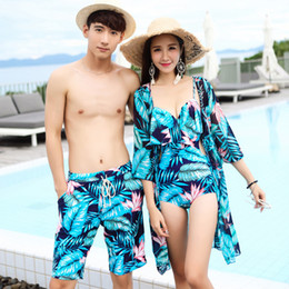 114b2175c1 Couples Swimsuit Women Sexy Bikini Cover Swimwear Men Swimming Trunks Pants  Shorts Beach Hot Spring Swim Wear Lovers Bathing Suit 40