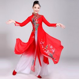 78707cdcf Soup Dream Brand Classical Dance Costumes Female Elegant New Chinese Style  National Umbrella Dance Costume Fan Clothes