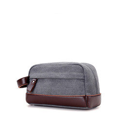 Hot Trunks For Men NZ - Hot 2019 New Simple Men Trunk Bags Small Clutch Cute Military High Quality Canvas Handbags Travel Bag For Male Bolsas An1241