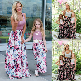 $enCountryForm.capitalKeyWord NZ - Family Matching Clothes Women Girls Mother Daughter Floral Dresses Outfits Beach Skirts