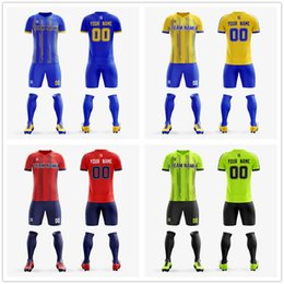 grey blue football kits Australia - Custom Adult Youth Soccer Jersey 2019 Top quality full sublimation printing Football shirt Kit soccer jerseys