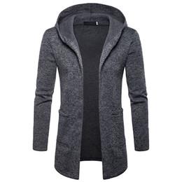 Gothic Style Clothes Australia - 2018 Hoodies Men Autumn Winter Gothic Style Hoody Long Coats Fashion Mens Hoodie Streetwear Men Brand Clothing Fleece Hoodie
