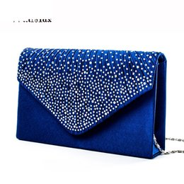 Ladies Rhinestone Handbags NZ - good quality Women New Rhinestone Fashion Party Evening Bags Phone Purse Bag Ladies Clutch Evening Bag Bridal Handbags Bolsas Feminina