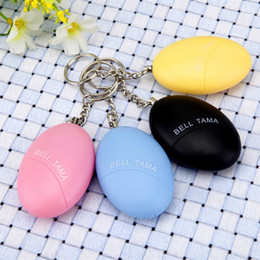 portable security alarm UK - ALK 1pc Egg Shape Female Portable Self Defense Security Keychain Alarm For Protecting Women Children Kids Elderly Personal Guard Safety