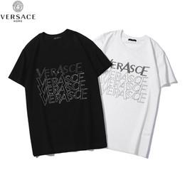Großhandel 2019 0Versace Spring Summer Oversize Damen Candy T-Shirt Hübsche Streetwear Perfekte Basics Tops übertragen ungefüttertes Obermaterial