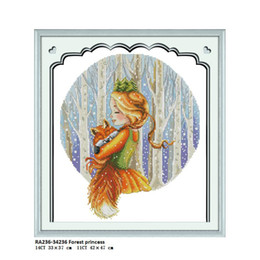 forest figures Australia - Forest Princess Embroider DIY Counted Printed On Canvas DMC Threads 14CT 11CT Chinese Cross Stitch Needlework Sets Wholesale