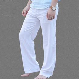Pantalones De Lino Blanco Hombres Oferta Online Dhgate Com