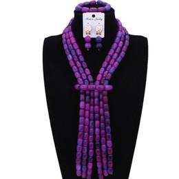 $enCountryForm.capitalKeyWord UK - Fine Jewelry Sets Party Purple Blue Crystal Stones African Nigerian Wedding Beads Necklace Set Jewelries Bridal Jewellery Set