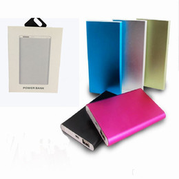 Wholesale Power Bank mobile battery mAh External Battery Powerbank Tablet PC Charger Cell Phone Power Banks usb cablce With Retail Box