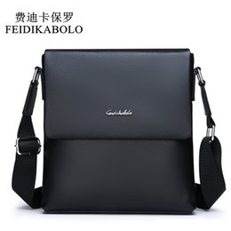 Small Leather Messenger Bags Australia - FEIDIKABOLO Cow Genuine Leather Messenger bag men's shoulder bag Small Casual Flap male man Crossbody Bags for Men Leather bags