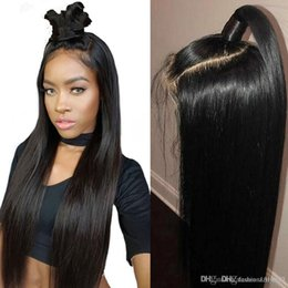 $enCountryForm.capitalKeyWord Australia - Lace Front Wig 250% Density Straight 360 Frontal Lace Black Synthetic Heat Resistant Long Straight Middle Part Line Costume