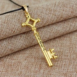Titan Pendant Australia - Hot Attack on Titan Metal Key Pendant Necklace Leather Rope Necklace For Women Men Jewelry Accessories Gift