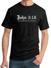 6a776d72e687 John 3:16 t-shirt fun God apparel Christian 4 colors to choose from New  Jesus