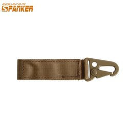 Discount leather snap belt - EXCELLENT ELITE SPANKER Outdoor Military Keychain Buckle Tactical Zinc Alloy Snap Hook For Bag Accessory Belt Loop Ribbo