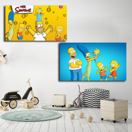 $enCountryForm.capitalKeyWord Australia - The Simpsons Homer J Bart Lisa Marge Canvas Posters Prints Wall Art Painting Children Decorative Picture Modern Home Decoration