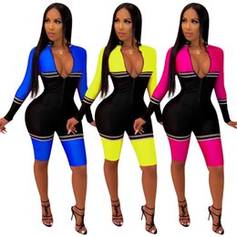 $enCountryForm.capitalKeyWord UK - Women Jumpsuit Party Overalls Slim Night Club Short Pants Skinny Knee Length Long Sleeve Bodycon Pants Sexy Rompers Summer Hot Selling 1049