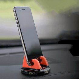 Phone Holder Car Accessory Australia - Car Cell Phone Holder For Auto Accessory Car Smartphone Mount Silicone GPS Stand For Phone In Car Mobile Holder Mini