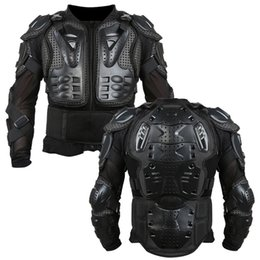 full body protector motocross UK - Motorcycle Armor Jacket Full Motorcycle Body Armor Shirt Jacket Motocross Back Shoulder Protector Gear S-XXXL Black