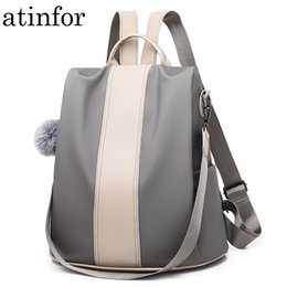 women backpacks 2019 - atinfor waterproof PU leather anti-theft backpack women 2019 vintage backpacks purse school shoulder bag by 2 materials