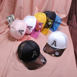 6d4f0f10058d7 Spring Summer Outdoor Baseball Cap Beach Transparent Candy Color Peaked Hat  Letter Fashion Anti UV Snapback Unisex 14 5cp I1