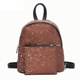f482a8fb3e good quality 2019 Women s Sequins Pu Leather Backpack Children Backpacks  Mini Bag Fashion Small Back Pack For Teenage Girls Bags