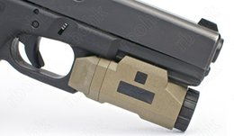 Button hunt online shopping - Tactical AR Pistol APL light for picatinny rail mount Left Right button switch hunting shooting DE M4968