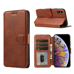 Iphone 5s Flip Case Magnetic Australia - Luxury Leather Phone Case For iPhone XS MAX XR X 8 7 6 6s plus 5S SE High Quality Magnetic Flip Wallet Case Coque W Card Holder