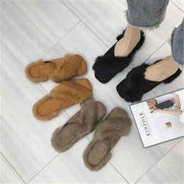 korean flat slippers Australia - Slippers women's fashion 2018 autumn and winter new Harajuku style wild Korean flat bottom baotou half slippers