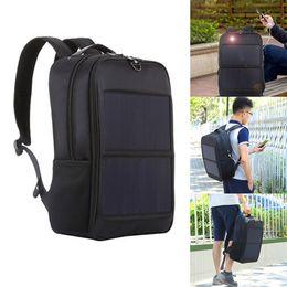laptop travel power 2019 - Men Solar Powered Charge Backpack Laptop Daypack Business Travel Waterproof Bag ASD88 cheap laptop travel power