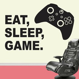 $enCountryForm.capitalKeyWord Australia - Eat Sleep Game Vinyl Wall Sticker Decal enfant chambre à coucher Jeux Wall Stickers Home Decor Living Room