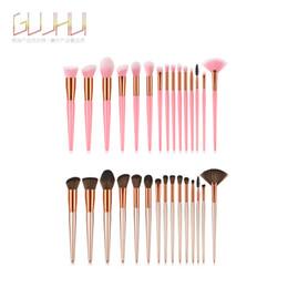 Pc 15 Australia - New Arrive 15 pcs Synthetic Kabuki Makeup Brush Set Cosmetics Foundation blending blush makeup tool
