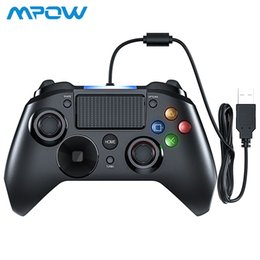 Pc Game Cable NZ - Mpow Ps4 Game Controller Usb Wired Gamepad Multiple Joystick Vibration Handle 2m Cable Gamepad For Iphone Ipad Pc For Ps4 ps3 T6190615