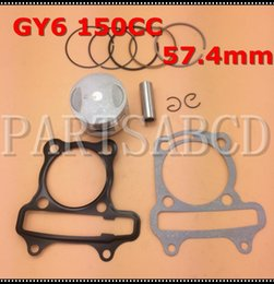 Piston set online shopping - GY6 CC Piston Ring Set with Cylinder Gaskets For GY6 CC Hammerhead Go kart