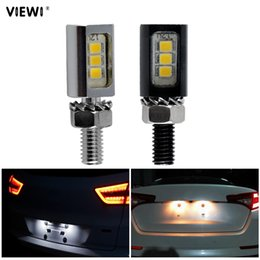 $enCountryForm.capitalKeyWord NZ - 2pcs super Led Motorcycle -License Plate Screw Bolt Light 12V 1W IP65 Car-styling 12 volt 2835 energy saving bulb Auto lighting
