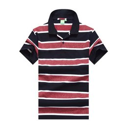 Tshirt Polos Australia - New Mens Striped Brand Designer Polos Poloshirt Summer Tshirt Shirt Fashion Business Office Blouse M-2XL