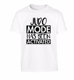 $enCountryForm.capitalKeyWord UK - Judo mode activated, kid's t-shirt sport gym belt mat throw martial art 3656 Comfortable t shirt Casual Short Sleeve Print tees cheap
