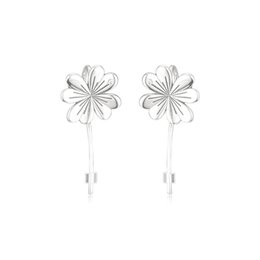 $enCountryForm.capitalKeyWord Australia - New Authentic 925 Sterling Silver Earring Lucky Four-leaf Clovers Hanging Earrings For Women Wedding Gift Fine Pandora Jewelry