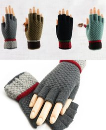 $enCountryForm.capitalKeyWord Australia - Colorful Unisexy Fingerless Fitness Gloves Warm outdoor Fingerless Knitted Gloves For Winter Autumn Spring DHL Free 100pcs