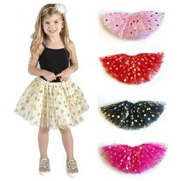 Red White Blue Tutus Australia - Girls Party Skirts Vetement Fille Baby Girl Tutu Skirts Children Clothing Dot Sequined Ball Gown Kids Skirts for Girls Clothes