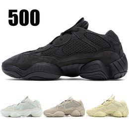 74db00090 2019 Utility Black 500 Running Shoes Men Women Salt Blush Super Moon Yellow  Designer Shoes Desert Rat 500 Sport Sneakers 36-46