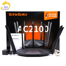 Tenda drahtlose Wifi Router AC23 2100mbps Unterstützung ipv6 2,4 GHz + 5-GHz-802.11ac / b / n / g / a / 3 / 3U / 3ab für Familie / SOHO im Angebot