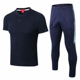 Soccer Jersey Training Vest UK - new 18 19 season Manchester City Short  sleeve polo T 6e3e84c85